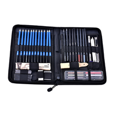 48 sztuk profesjonalne szkicowania kredki zestaw z torba do noszenia artystyczny obraz narzędzia 8B 6B 5B 4B 3B 2B B HB 2H 3H 4H 5H ołówek