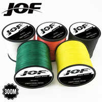 4 Strands 8 Strands 300M JOF PE Multicolor Braided Fishing Line Superior Extreme Strong 100% SuperPower
