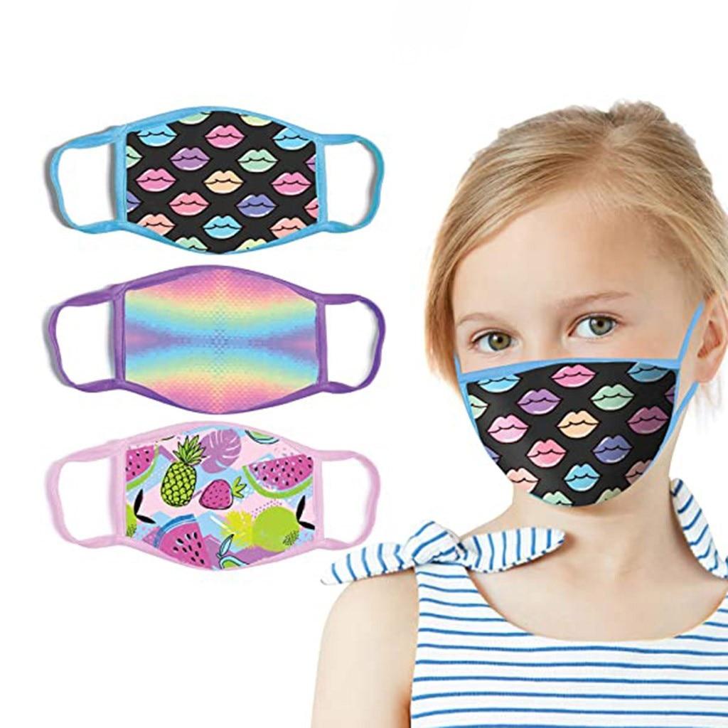 Mask Child Fashion Printing Windproof Fog Haze Protective Cotton Mask Mascarilla Reutilizable Mondka