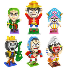 Heißer lepining creators Anime One-Stück Affe D Luffy Zoro Lysop Sanji Chopper Franky Brook Figuren mini Micro Diamant block spielzeug(China)