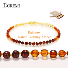 все цены на Handmade Original Amber Teething Bracelet for Baby Natural Baltic Ambar Jewelry for Adult Women Bracelets Anklets Colar 12-50cm онлайн