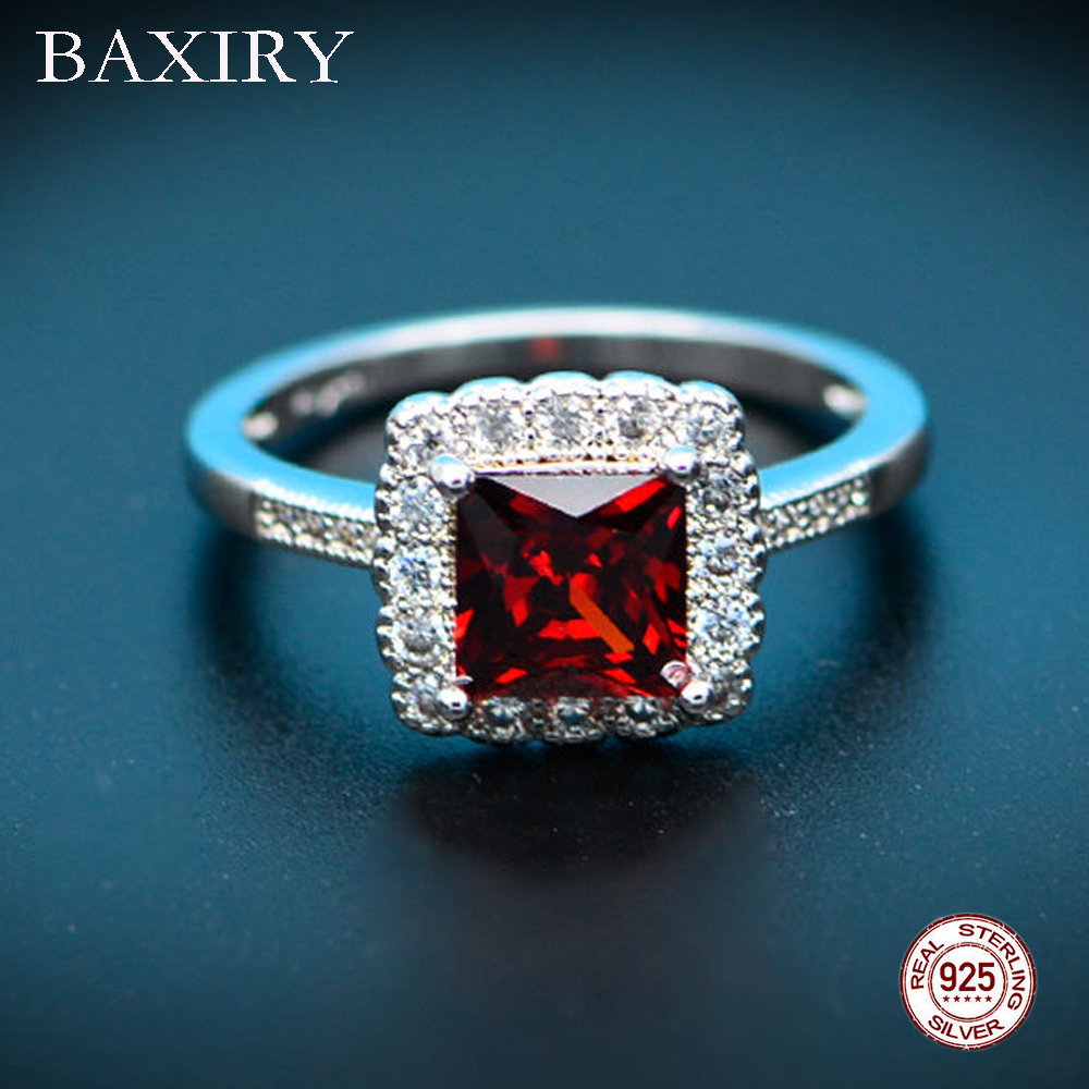 Trendy Luxury Ruby Ring Gemstones Natural For Jewelry Silver Ring Blue Topaz Ring 925 Sterling Silver Rings For Women Engagement