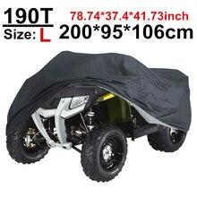 200 см 78 дюймов 190 т черный мотовездеход скутер мотоциклетные чехлы водонепроницаемый дождевик защита от пыли УФ Защита от солнца D30