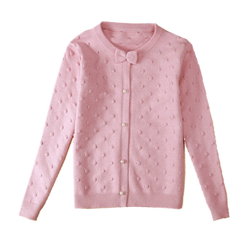 2019 spring children's clothes girls sweaters casual solid long sleeve baby girl knitted cardigan sweaters for girls big kids