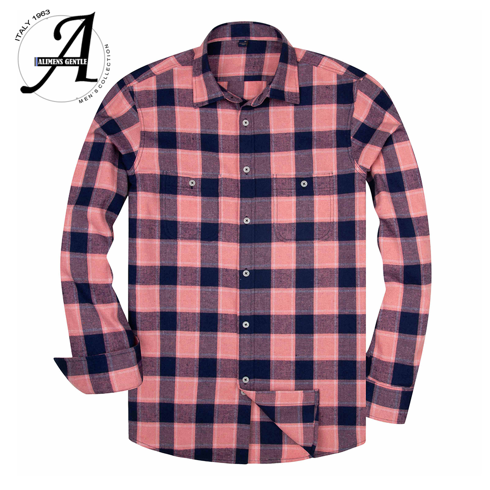 2020 Spring Flannel Plaid Shirt Men Casual Long Sleeve High Cotton Fashion Male Shirt Chemise Homme Camisa Social Masculina