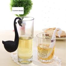 Маленький Лебедь чай фильтр сетка с отверстием пластик здоровье удобный черный белый кухня товары для дома 4