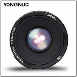 YONGNUO YN50mm F1.8 II Large Aperture Auto Focus Lens Small Lens  Super Bokeh Effect for Canon EOS 70D 5D2 5D3 600D DSLR Camera