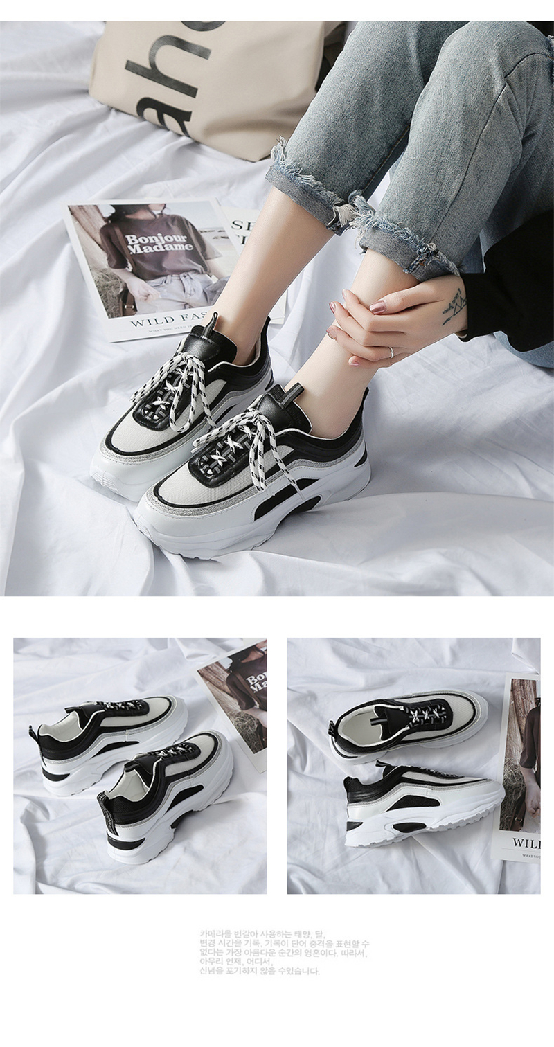 Spring Summer New Fashion Women's Vulcanize Shoes Casual Platform Increased Women Shoes Sneakers Casual Shoes Women VT611 (9)