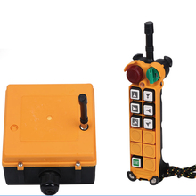 6 buttons hoist wireless industrial radio remote control for crane with two speed F24-6D industrial wireless radio 4 buttons double speed remote control f21 4d for hoist crane