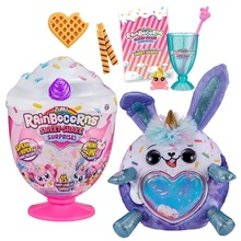 Rainbocorns zuru sweet magic ice cream cup surprise blind box plush bunny girl gift can sing and learn to speak