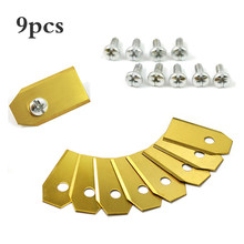 9Pcs Useful Sliver/Golden Titanium Plating Lawn Mover Replacement Blade Lawn Robot Blade For Automatic Moving Machine(China)