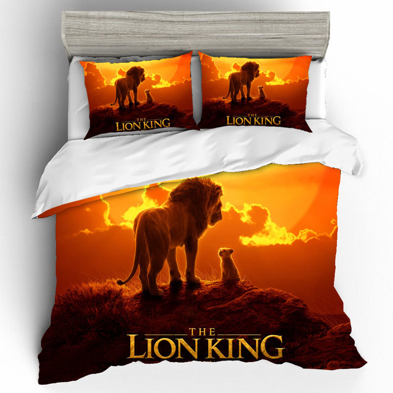 The Lion King High Qualified Luxury King Size Bedding Set Duvets And Linen Sets 3D Home Textiles Bedding Set And Bed Linen