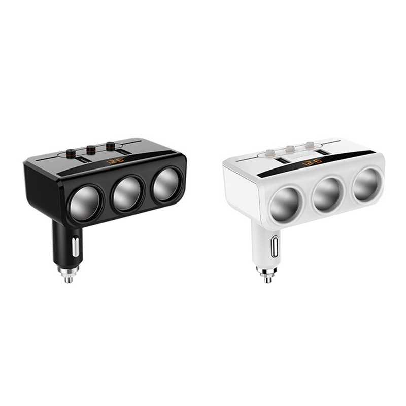 12 V-24 V سيارة ولاعة السجائر المقبس الفاصل التوصيل LED USB مهايئ شاحن 3.1A 100W كشف للهاتف MP3 DVR اكسسوارات