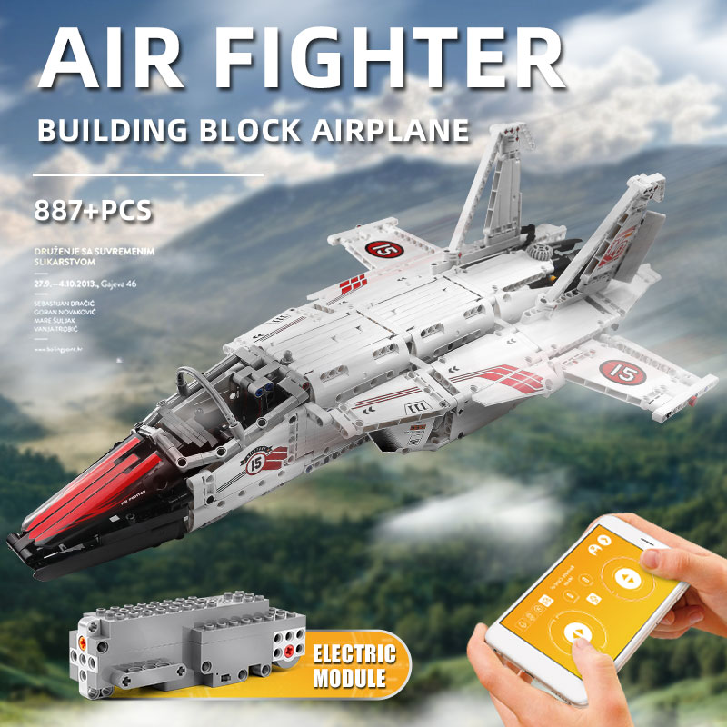 MOULD KING 15013 APP RC The Motorized Air Fighter Set Building Blocks