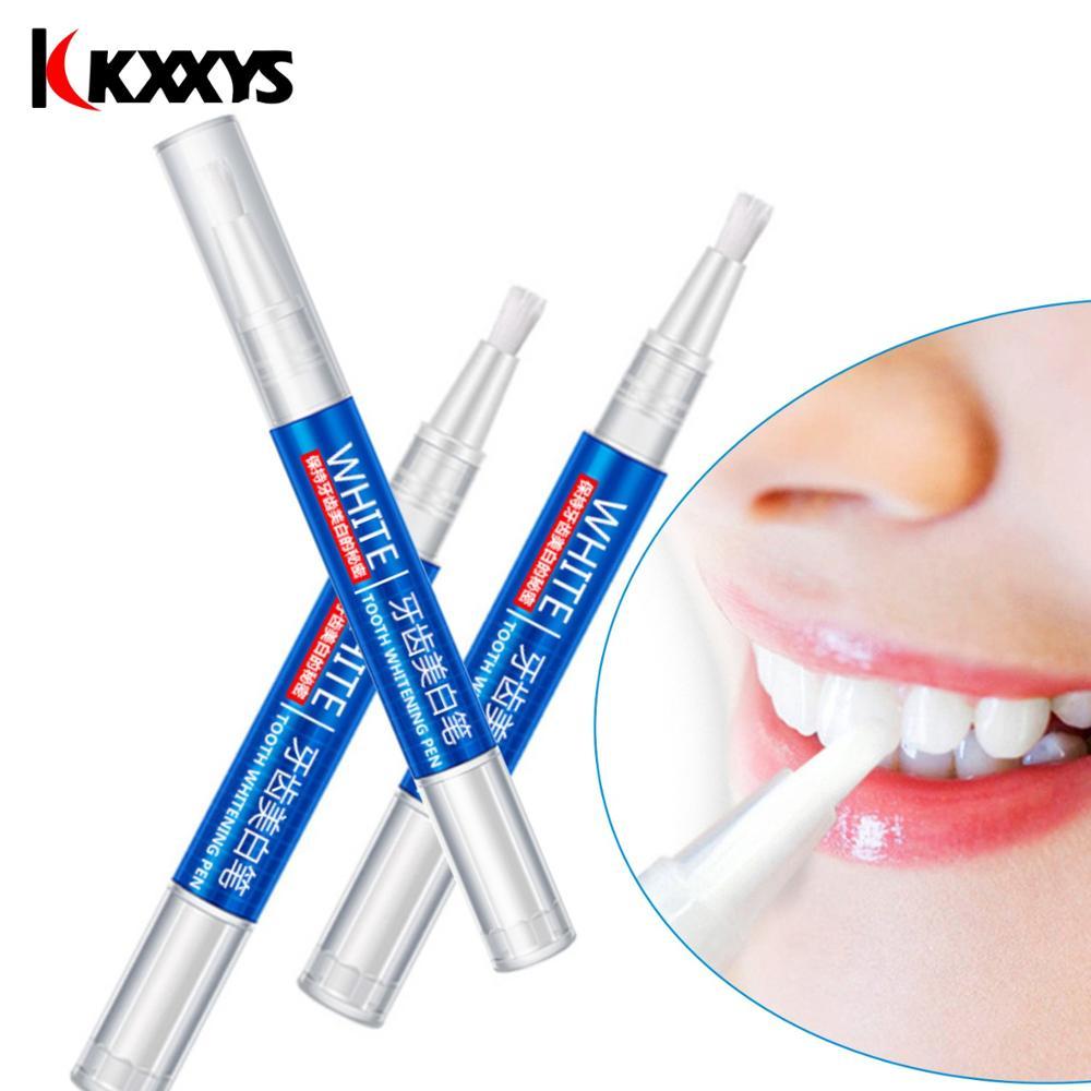 2pcs*3ml Popular White Teeth Whitening Pen Tooth Gel Bleach Remove Stains oral hygiene Peroxide Gel Tooth Kit Dental White