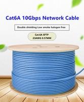 Cat6a cabo de rede sftp duplo blindagem 10 gbps cabo ethernet de alta velocidade para computador doméstico rede de banda larga rj45 lan cabo|  -
