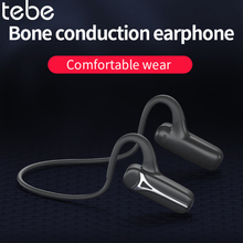 tebe Bluetooth Wireless Stereo Earphone Bone Conduction Headphones Bluetooth 5.0 Titanium Alloy Sports Ride Waterproof Headset e9 newest wireless bone conduction headphones bluetooth 5 0 binaural stereo bone headset waterproof sports bluetooth earphone