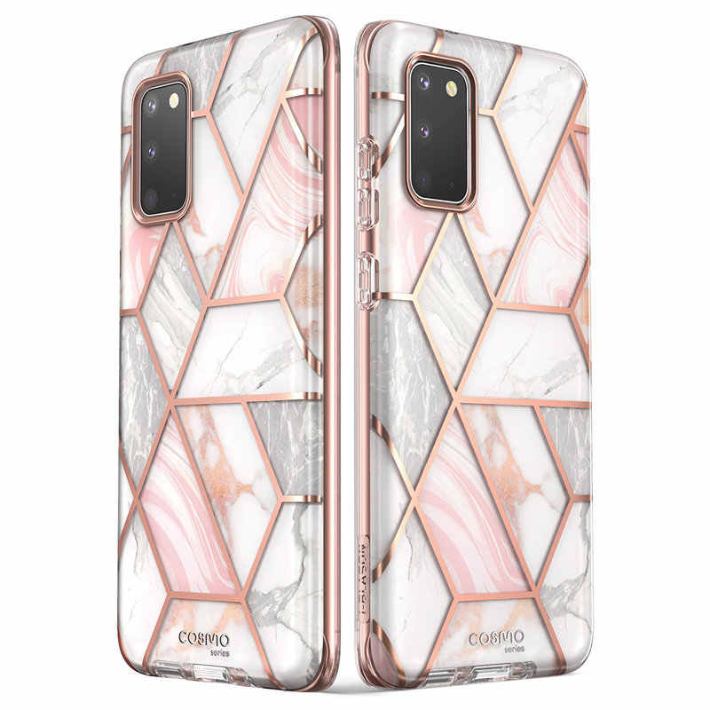 I-BLASON Cosmo For Samsung Galaxy S20 Case / S20 5G Case Full-Body Glitter Marble Bumper Cover WITHOUT Built-in Screen Protector