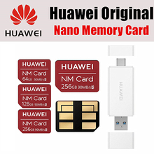 Huawei NM Card 100% Original 90MB/s 64GB/128GB/256GB Apply to Mate20 Pro Mate20 X P30 With USB3.1 Gen 1 Nano Memory Card Reader