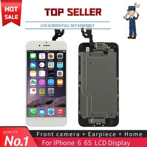 """Image 1 - Nero Bianco 4.7 """"Dello Schermo per Il Iphone 6 6S Lcd Set Completo di Montaggio Completo 100% con 3D Forza di Tocco digitizer Display di Ricambio"""