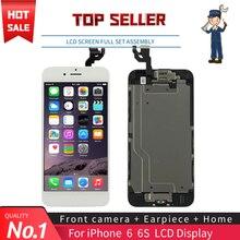 """Schwarz Weiß 4,7 """"Bildschirm Für iPhone 6 6S LCD Vollen Satz Montage Komplette 100% Mit 3D Kraft Touch digitizer Ersatz Display"""