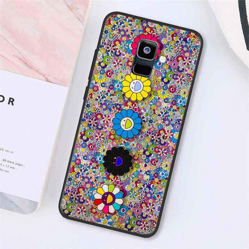 Maiyaca Murakami Takashi Hoa Mặt Trời Ban Đầu Ốp Lưng Điện Thoại Samsung Galaxy A7 A50 A70 A40 A20 A30 A8 A6 A8 plus A9 A71 A51
