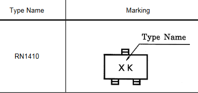 10PCS/Lot RN1410 Marking Code XK SOT-23 Switching, Inverter Circuit, Interface Circuit And Driver Circuit Applications