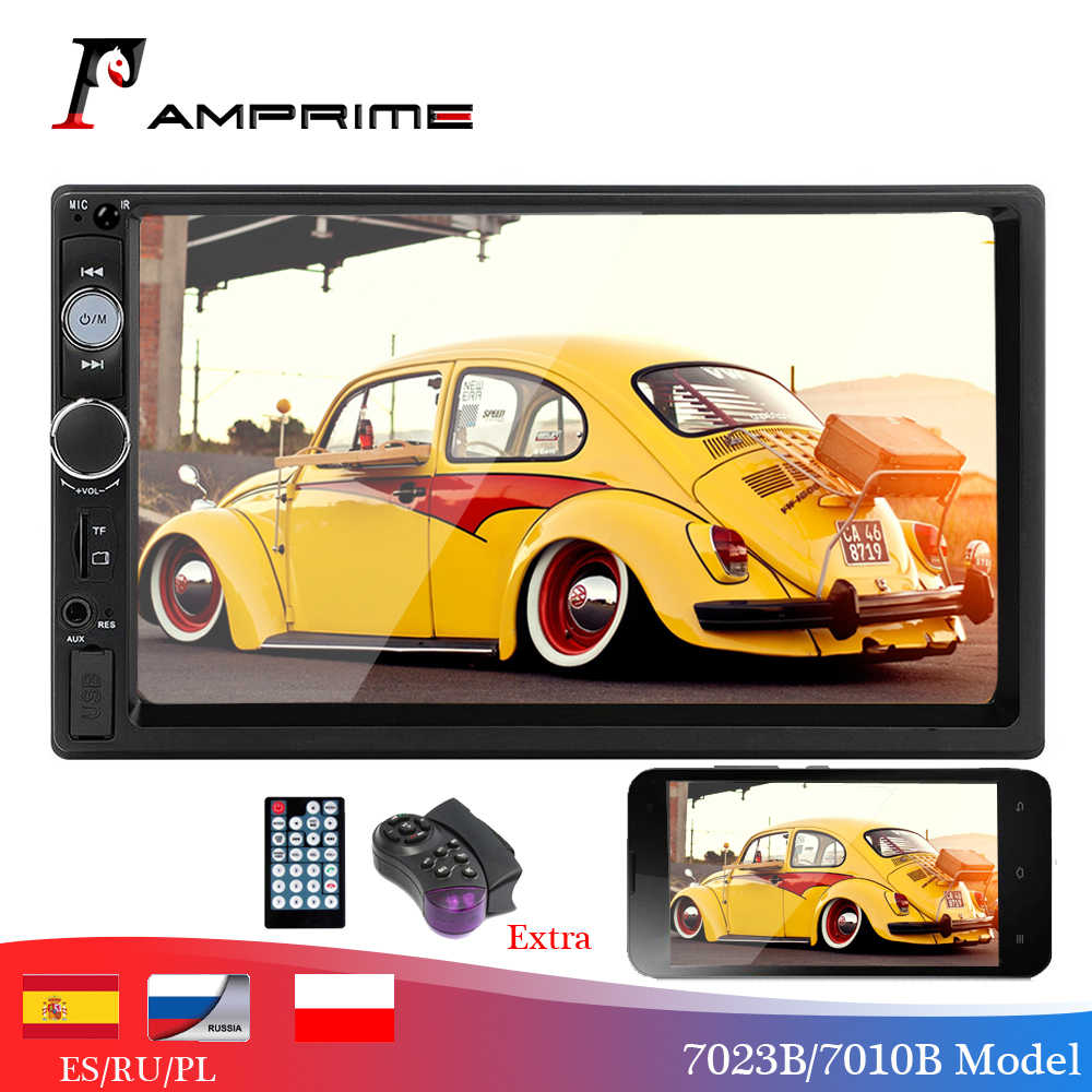 Amprime 2 DIN Mobil Player 7 Inch Mobil Radio Bluetooth Auto Stereo Multimedia Mobil Player Autoradio MP3 MP5 Mendukung Belakang kamera