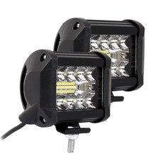 2 قطعة/زوج 4 بوصة LED القيادة أضواء العمل 200 واط 6000 كيلو الفيضانات بقعة كومبو أضواء قبالة مصباح للطريق سيارة شاحنة الإضاءة السيارات
