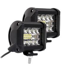 2 Cái/cặp 4 Inch LED Lái Xe Đèn LED Công 200W 6000K Lũ Điểm Combo Đèn Tắt Đường Đèn Xe Ô Tô xe Tải Chiếu Sáng Ô Tô