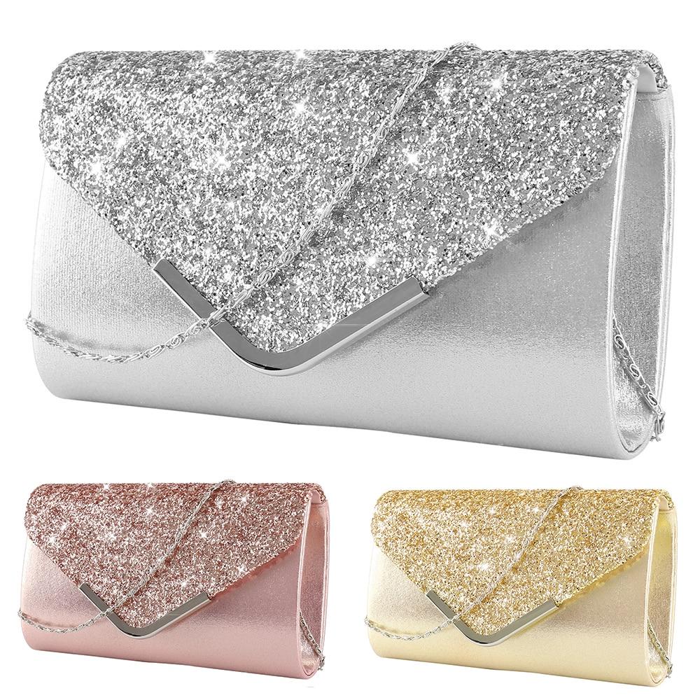 Luxury-Bags Wallet Handbags Envelope Clutch Purse Wedding-Everning Bridal Female Women