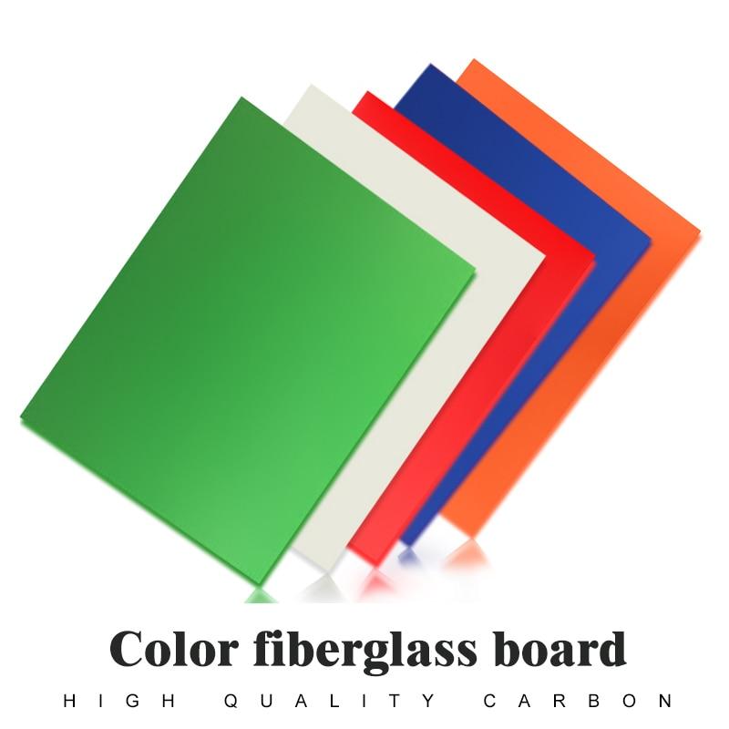 1.5mm 250*200 Colored Glassfibre Template Board Sheet Epoxy Glass Fiber G10 FR4 Fibreglass Plate For DIY QAV Drone Accessory