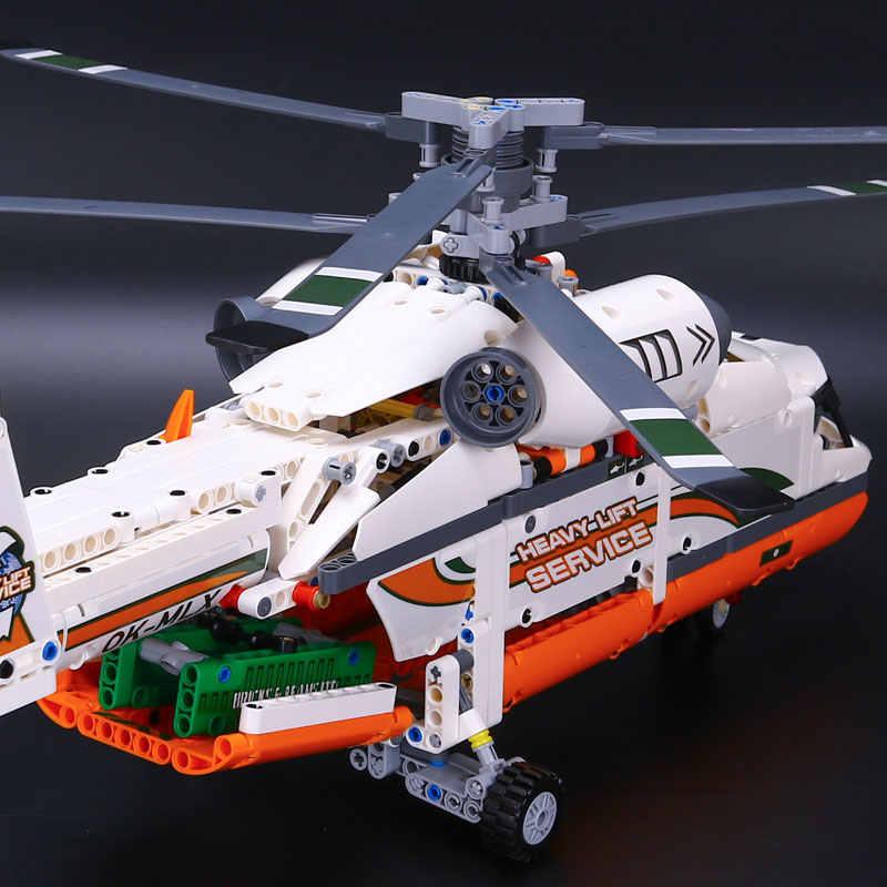 Новинка 20002 технология серия двойной ротор транспортный вертолет модель строительные части кирпичи совместимые Legoed 42052 игрушка