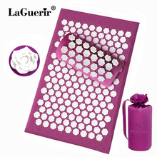 Lotus thorn acupuncture massage mat acupressure mat pillow body back massage pain relieve relax yourself Relaxation cushion bag(China)