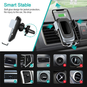Image 2 - CHOETECH 15W Fast Wireless Car Charger Car Phone Holder Stand Auto Clamping Car Mount for iPhone Samsung Huawei Xiaomi
