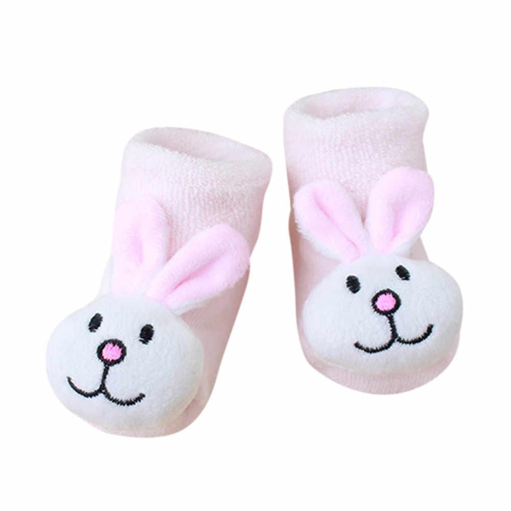 De dibujos animados de niños recién nacido bebé niñas niños Anti-Slip calcetines Zapatillas Zapatos botas de algodón grueso bebé niño calcetines de otoño e invierno