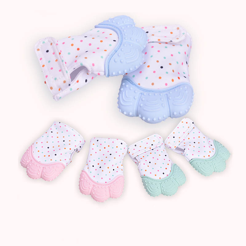 Baby Teether Baby Anti-bite Silicone Molar Gloves Children's Sound Toys Maternal And Child Supplies Protection Baby Fingers