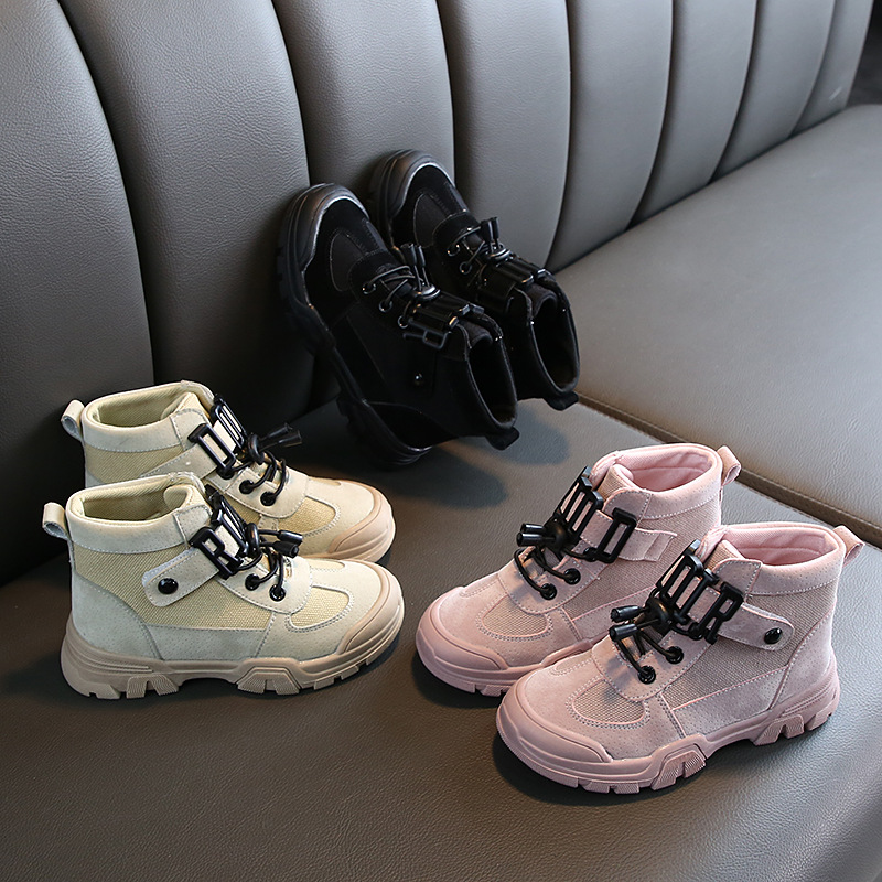 High Quality Children Boots Autumn Winter Ankle Cotton Martin Boots Shoes Boys Girls Anti-slippery Outdoor Sneaker