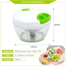 500ML Powerful Meat Grinder Hand-power Food Chopper Mincer Mixer Blender to Chop Meat Fruit Vegetable Nuts Shredders