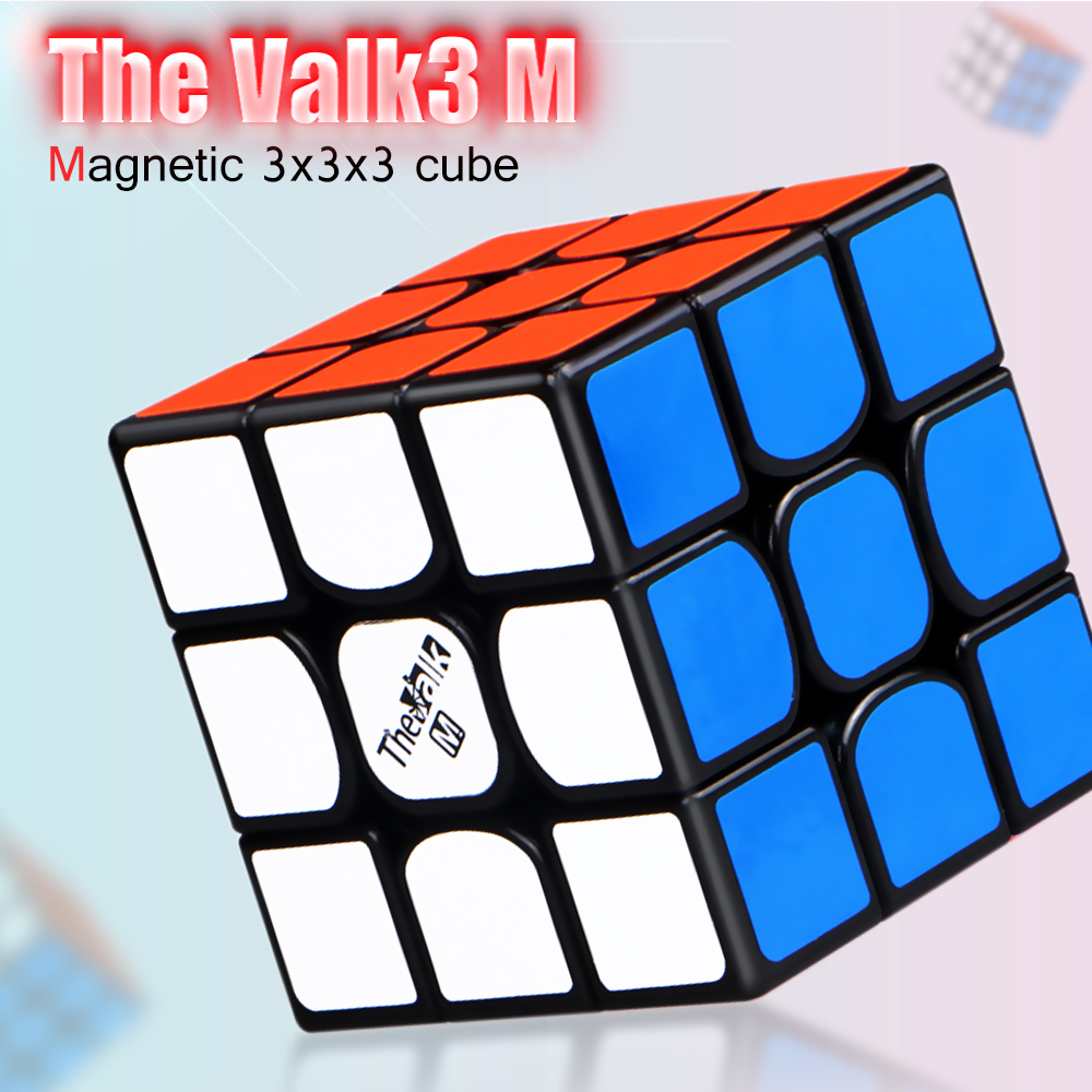 New QiYi Valk3 M 3x3x3 Magnetic Magic Speed Cube Valk 3M Stickerless Professional Magnets Puzzle Cubes 3 Cubo Magico 3x3