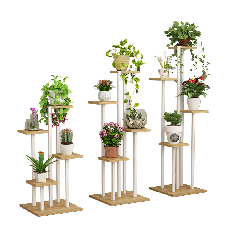 Decorate Flower Airs Multi-storey Indoor  Household Chlorophytum Bonsai Shelf Province Space Shelf