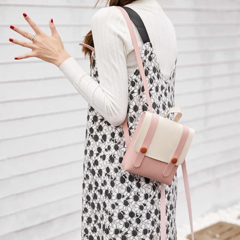 Женская роскошная дизайнерская сумка, сумки в Корейском стиле, небольшой легкий рюкзак на плечо для телефона, контрастный цвет, маленькая свежая сумка