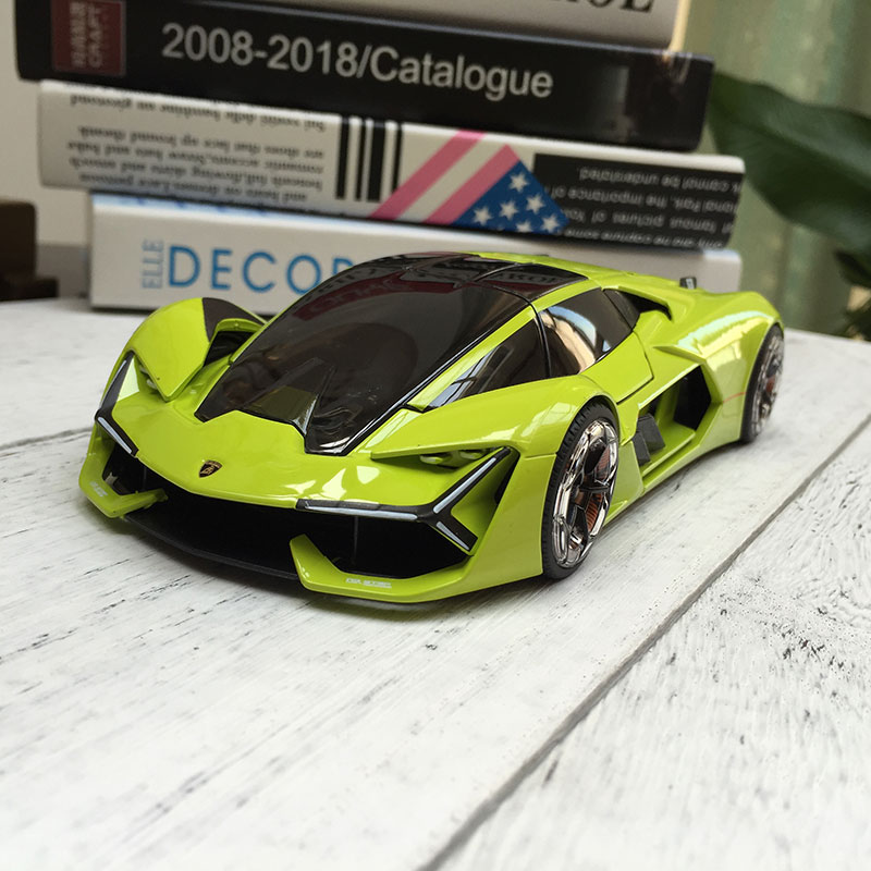 Bburago 1:24 Lamborghini Terzo Millennio Green Alloy Car Model Simulation Car Decoration Collection Gift Toy Die Casting Model