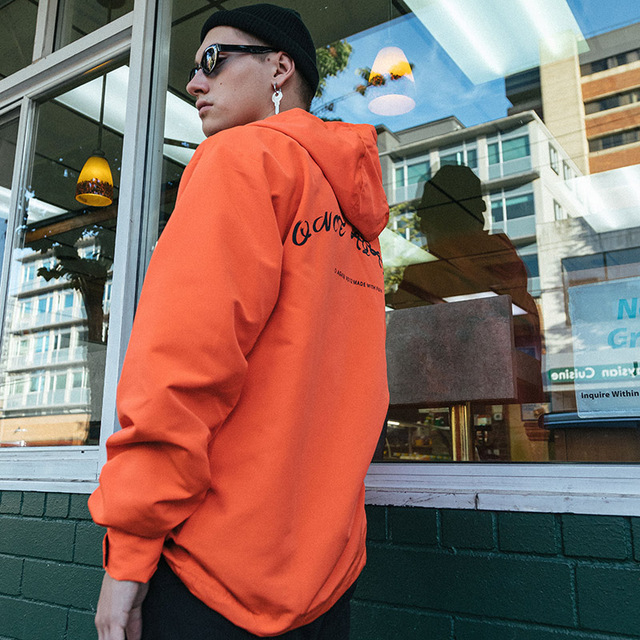 2019 Hip Hop Jacket Windbreaker Men Harajuku Streetwear Buckle Ribbons Hoodie Jackets Zipper Track Jacket Coat Oversized Autumn
