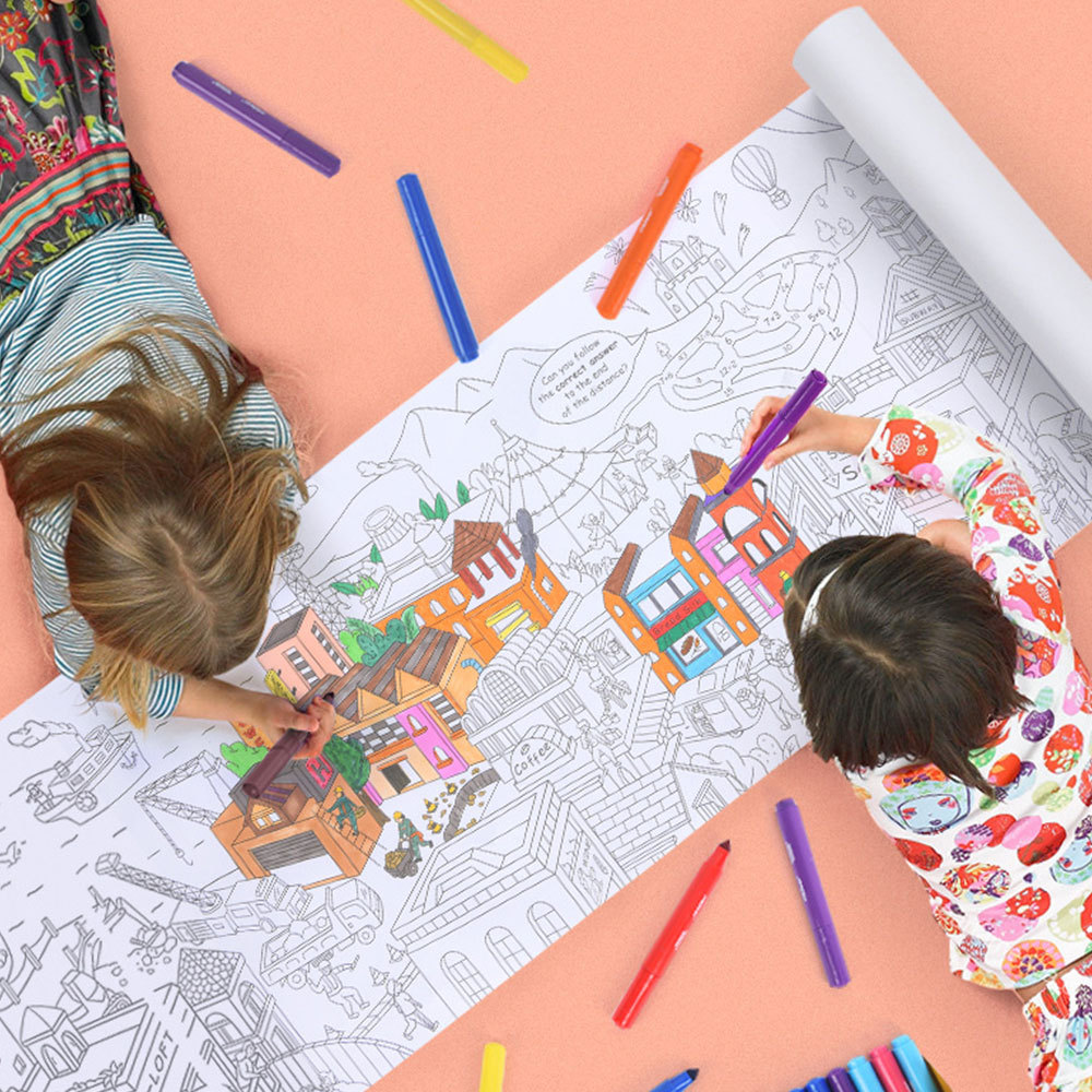 - 10M Large Coloring Poster Kids Colorable Frame Fun Painting