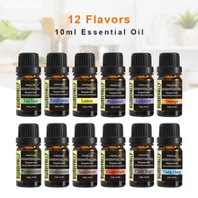 12pcs 10ml Pure Essential Oil For Aromatherapy Diffusers