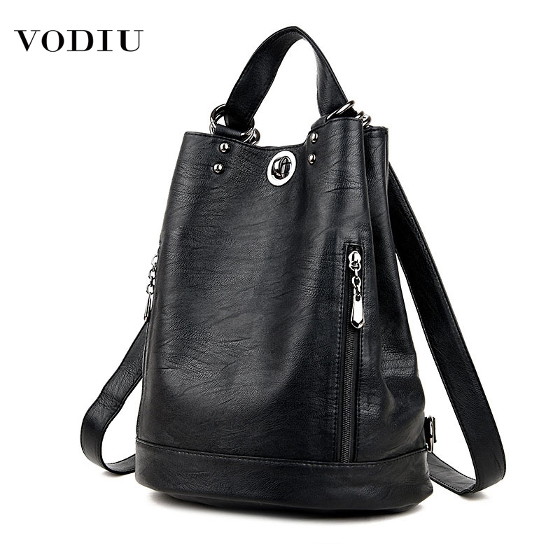 Backpack Women Leather School Bags For Teenage Girls 2019 Fashion Brand Large Capacity Travel Feminina School Leather Backpack