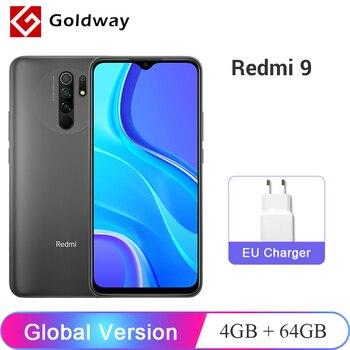 "Versão global xiaomi redmi 9 4gb ram 64gb rom telefone móvel helio g80 octa núcleo 13mp quad câmera 6.53 ""fhd + display 5020mah 1"