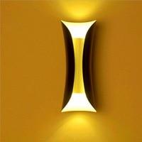 Pós moderno simples cintura pequena lâmpada de parede varanda corredor varanda sala estar tv fundo parede led|Luminárias de parede| |  -
