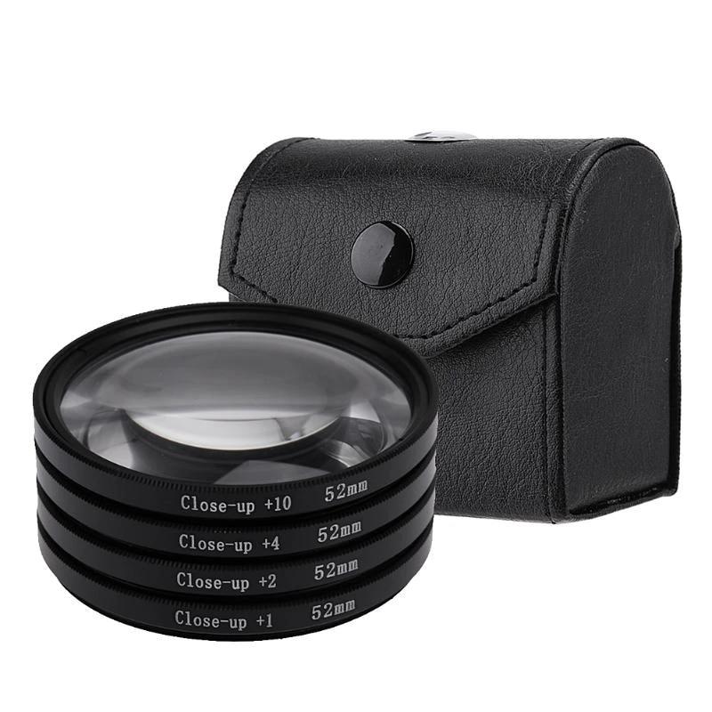 4 Close-up Filters For Canon DSLR Cameras 52mm Filter Set